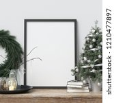 mock up poster frame with... | Shutterstock . vector #1210477897