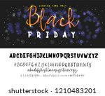 black friday sale. hand drawn... | Shutterstock .eps vector #1210483201