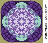 colorful symmetry round circle... | Shutterstock .eps vector #1210486594