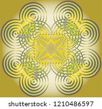 colorful symmetry round circle... | Shutterstock .eps vector #1210486597