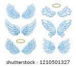 collection of wide spread blue... | Shutterstock .eps vector #1210501327