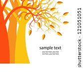 orange trees in the autumn. a... | Shutterstock .eps vector #121051051