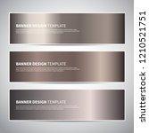 Stock vector banners bronze gold gradient vector banner templates or website headers vector design for your 1210521751