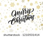 merry christmas golden and... | Shutterstock .eps vector #1210531414