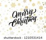 merry christmas golden and... | Shutterstock .eps vector #1210531414