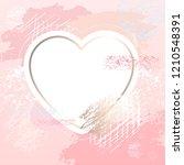 golden pink art heart frames.... | Shutterstock .eps vector #1210548391