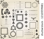vintage set of vector... | Shutterstock .eps vector #1210559881