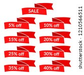 set of red sale ribbons with...   Shutterstock .eps vector #1210566511
