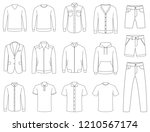 clothes. mens clothing vector | Shutterstock .eps vector #1210567174