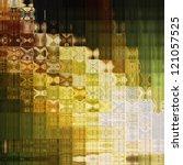 art abstract geometric tiled... | Shutterstock . vector #121057525