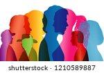 noisy people. crowd noise.... | Shutterstock . vector #1210589887