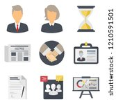 concept of business flat icons...
