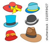 set of cartoon male and female... | Shutterstock . vector #1210593427