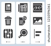 simple set of  9 filled icons... | Shutterstock .eps vector #1210596361