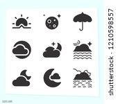 simple set of 9 icons related... | Shutterstock .eps vector #1210598557