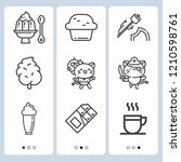 simple set of  9 outline icons... | Shutterstock .eps vector #1210598761