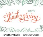 thanksgiving lettering.... | Shutterstock .eps vector #1210599001