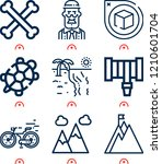 simple set of  9 outline icons...   Shutterstock .eps vector #1210601704