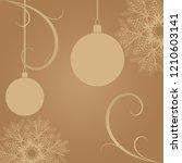 happy christmas retro greeting...   Shutterstock .eps vector #1210603141