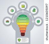 annual report business bulb... | Shutterstock . vector #1210605097