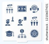 simple set of 9 icons related...   Shutterstock .eps vector #1210607431