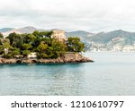 waterside view of paraggi.... | Shutterstock . vector #1210610797