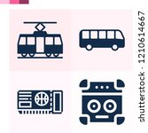 contains such icons as bus ... | Shutterstock .eps vector #1210614667
