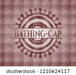 bathing cap red geometric badge....   Shutterstock .eps vector #1210624117
