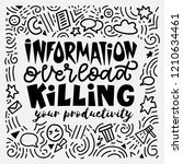 information overload killing... | Shutterstock .eps vector #1210634461