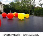 balloons of colors  red  yellow ...   Shutterstock . vector #1210639837