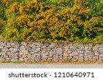 gabion fence wall  from  steel... | Shutterstock . vector #1210640971