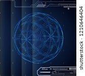 3d blue abstract tech... | Shutterstock .eps vector #1210646404