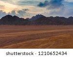 beautiful sunset above... | Shutterstock . vector #1210652434