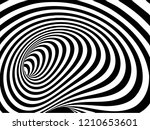vector optical art illusion of... | Shutterstock .eps vector #1210653601