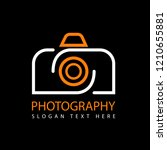 vector logo photography design... | Shutterstock .eps vector #1210655881