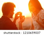 successful marriage proposal at ... | Shutterstock . vector #1210659037
