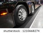 Diagonal View On New Chrome Bus ...