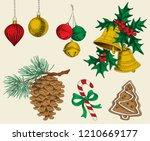 set of vector christmas...   Shutterstock .eps vector #1210669177