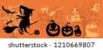 art banner for happy halloween... | Shutterstock .eps vector #1210669807