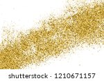 gold glitter texture isolated... | Shutterstock .eps vector #1210671157