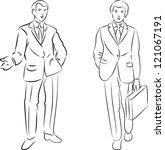 vector illustration of walking... | Shutterstock .eps vector #121067191