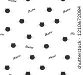meow cats seamless pattern.... | Shutterstock .eps vector #1210672084