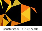 light yellow  orange vector low ... | Shutterstock .eps vector #1210672501