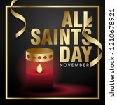 all saints day creative poster... | Shutterstock .eps vector #1210678921