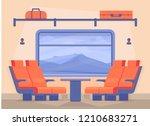 interior of a modern passenger... | Shutterstock .eps vector #1210683271