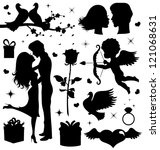 collection of a valentine's day ... | Shutterstock .eps vector #121068631