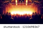 concert arena lit with many... | Shutterstock . vector #1210698367