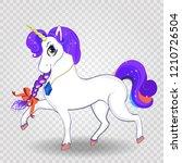 beautiful cartoon walking...   Shutterstock .eps vector #1210726504