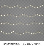christmas lights isolated...   Shutterstock .eps vector #1210727044
