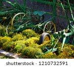 Antique Colorful Farm Equipment ...